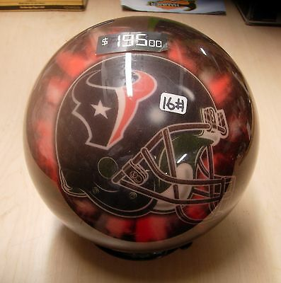 16 Bowling Ball Viz-a-ball Nfl 2006 Helmet Style Houston Texans Wo Original Box