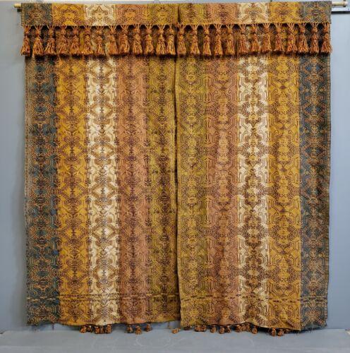 Antique Victorian Portiere Panel Drapes