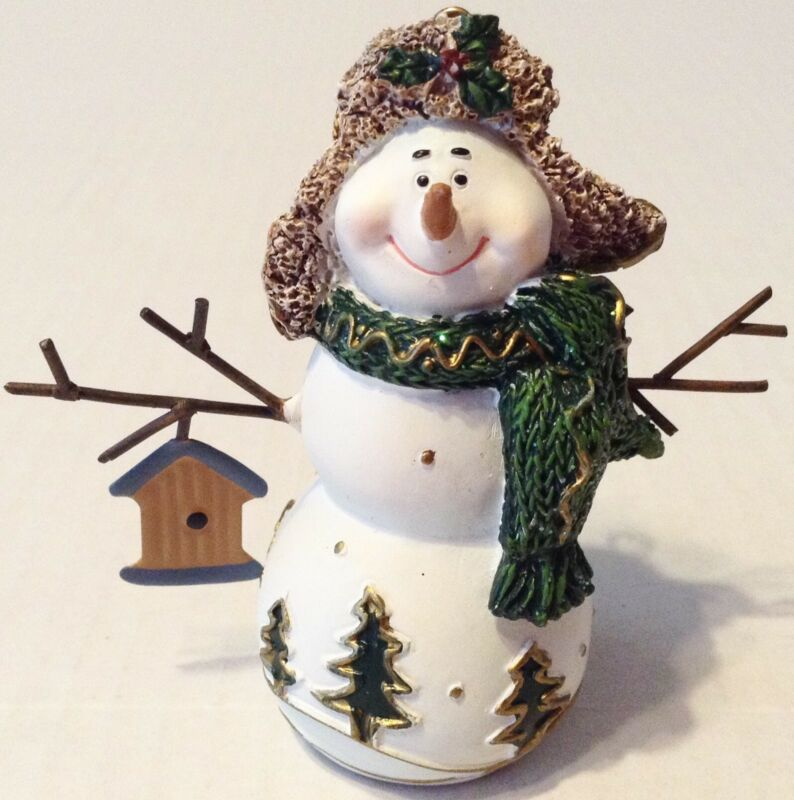 Snowman Birdhouse Christmas Ornament Decoration