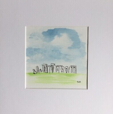 Original Artwork by Sungy Painting Of Stonehenge In Wiltshire Landmark