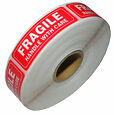 One Roll 1000 1 x 3 FRAGILE HANDLE WITH CARE Stickers, Easy Peel and Apply