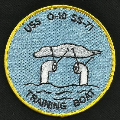 USS O-10 SS-71 O-Class Submarine Military Patch TRAINING BOAT
