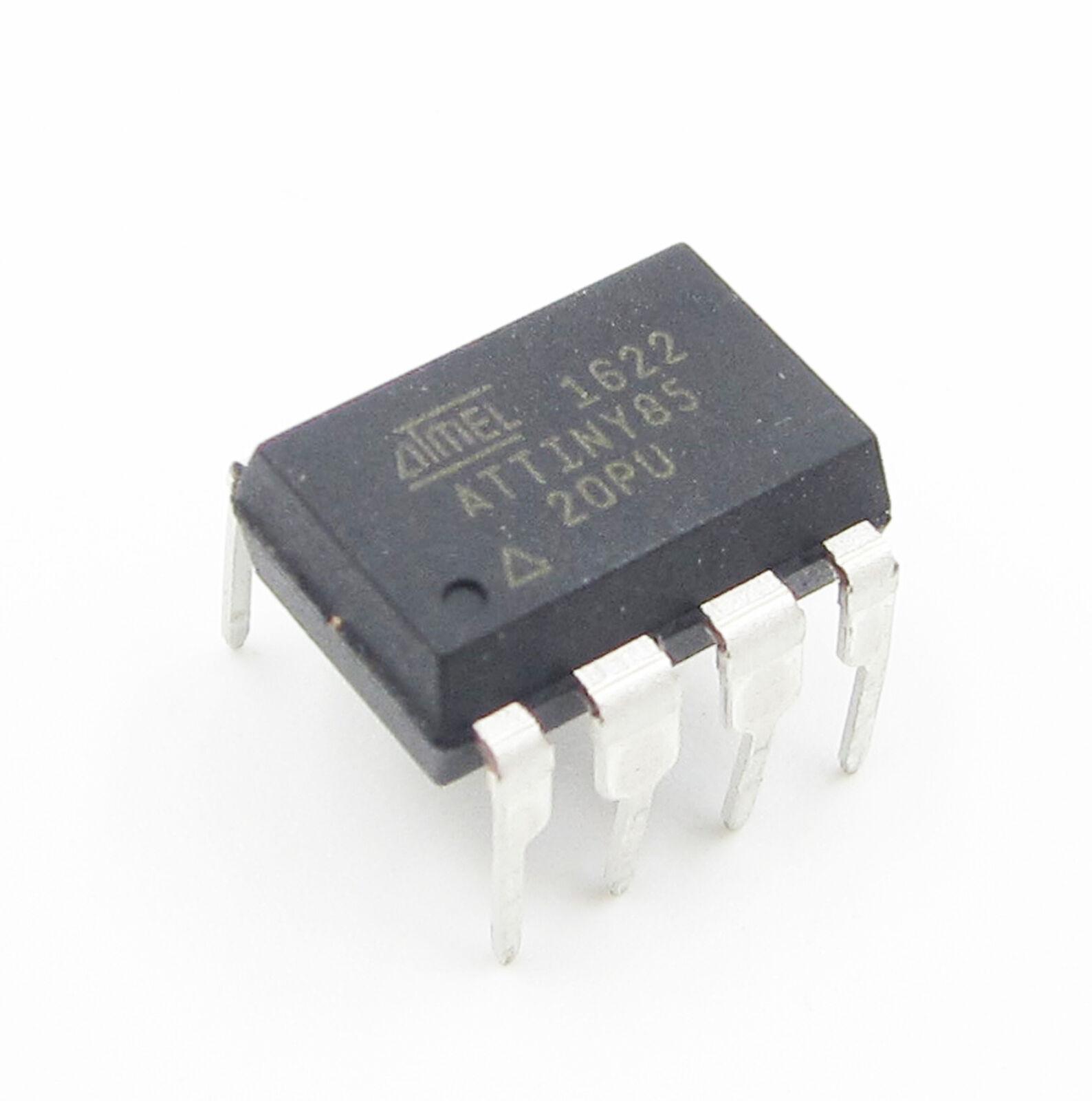 5 PCS ATTINY85 ATTINY85-20PU IC MCU 8BIT 8KB FLASH 8DIP New