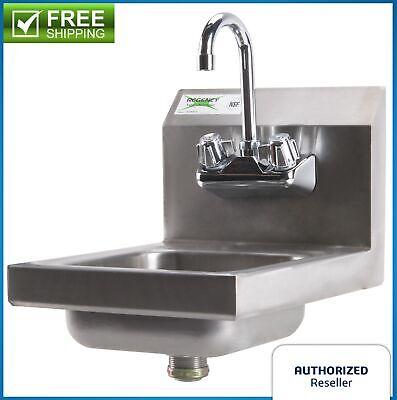 Wall Mount Hand Wash Sink 12x 16 Stainless Steel Kitchen Restaurant Nsf Garage