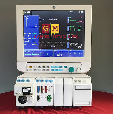 Ge Datex Ohmeda S5 Anesthesia Monitor E-series Modules 5 Agent Warranty