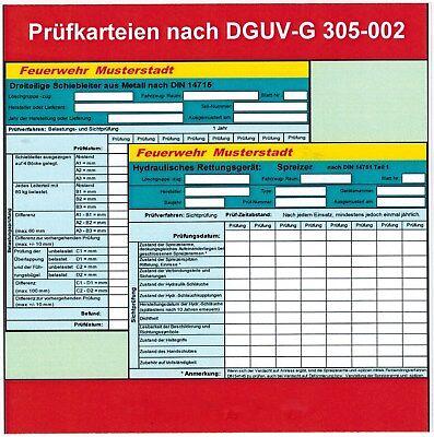 Feuerwehr Software Fahrzeug Pumpe Geräte Prüfnachweise DGUV Grundsatz 305-002