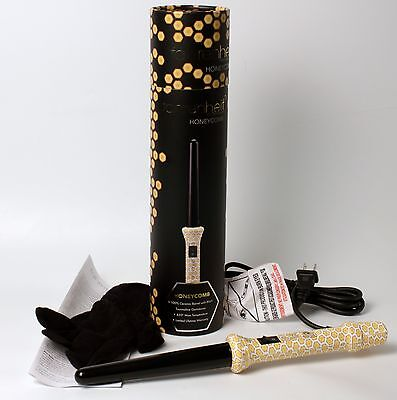 Clip Free Curling Wand Honeycomb by Fahrenheit Tourmaline Infused Hair for sale  Shipping to India