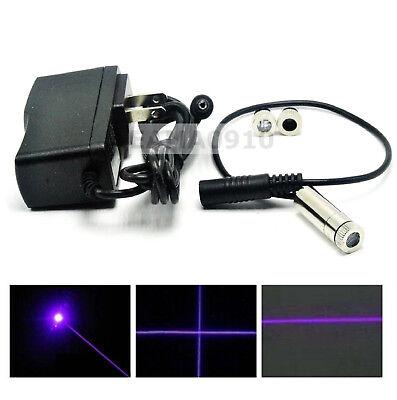 Focusable 405nm 20mw Violetblue Laser Dotlinecross Module W 5v Ac Adapter