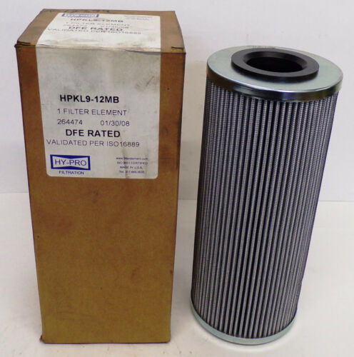HY-PRO FILTER ELEMENT HPKL9-12MB, DFE RATED, VALIDATED PER ISO16889