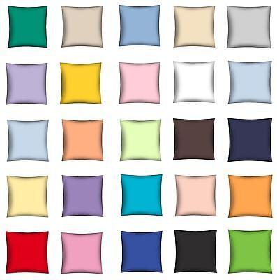 Dekokissen Kissenhülle Kissenbezug UNI 100% Baumwolle 40x40 cm online kaufen