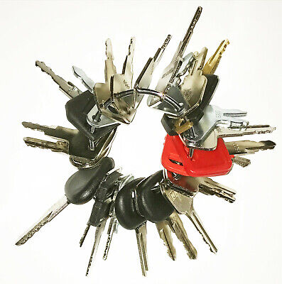 24 Heavy Equipment Construction Ignition Keys Set Fits Many Makes Models