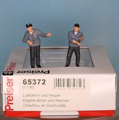 Preiser 65372, Spur 0  1:43,5 / 1:45, Lokführer und Heizer / engine-driver and