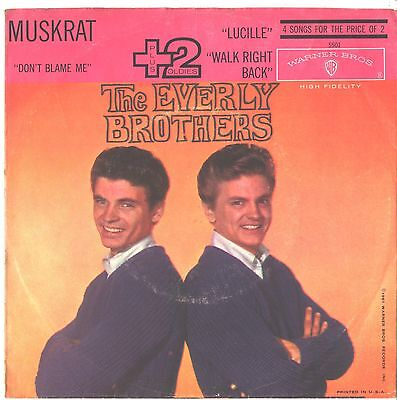 EVERLY BROTHERS--4-SONG PICTURE SLEEVE ONLY---PS--PIC--SLV (Pic 4 Song)