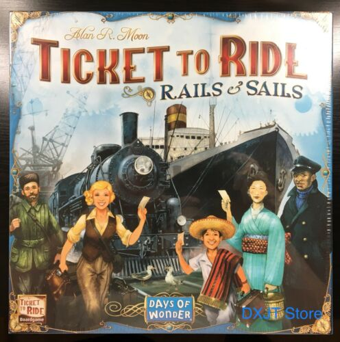 Ticket To Ride Rails & Sails Board Game - Brand New Sealed !