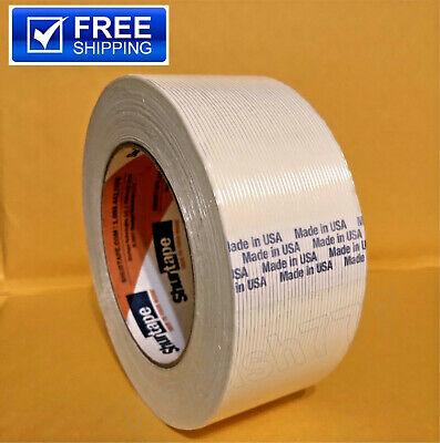 4 Rolls - 2 X 60 Yds Fiberglass Reinforced Filament Strapping Packing Tape
