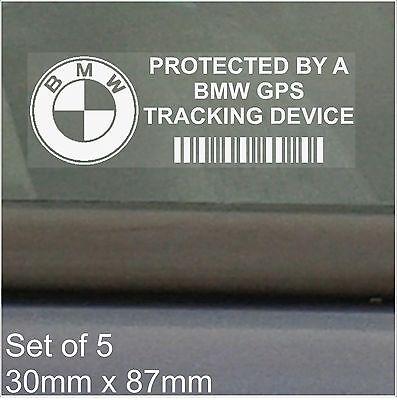 5 x BMW GPS Tracking Device Security Stickers-3 4 5 6 7 Series Car Alarm Tracker