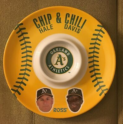 Oakland A's Athletics Chip Hale and Chili Davis Platter With Dip Bowl