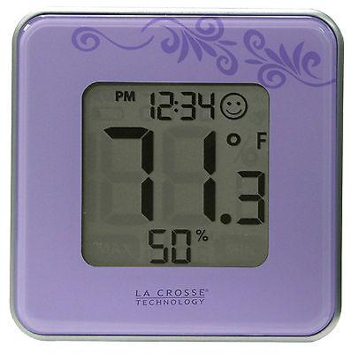302-604P La Crosse Technology Indoor Comfort Level Station Purple - Refurbished