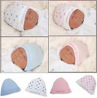 Bambino 2 Attrezzature Di Base Berretto Set 100% Cotone Blu Top Rosa Englandmode -  - ebay.it