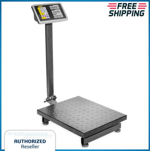 Industrial Platform Scale 600 LB Digital Shipping Floor Accurate Memory Recharge