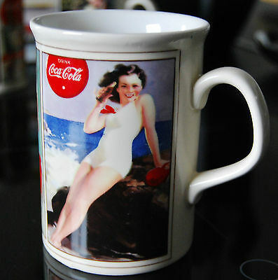 Coca Cola Becher, Tasse Porzellan Rarität