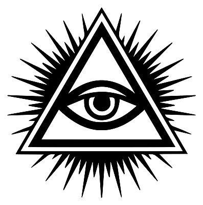 EYE OF PROVIDENCE Vinyl Decal Sticker - All-Seeing Eye of God - Illuminati