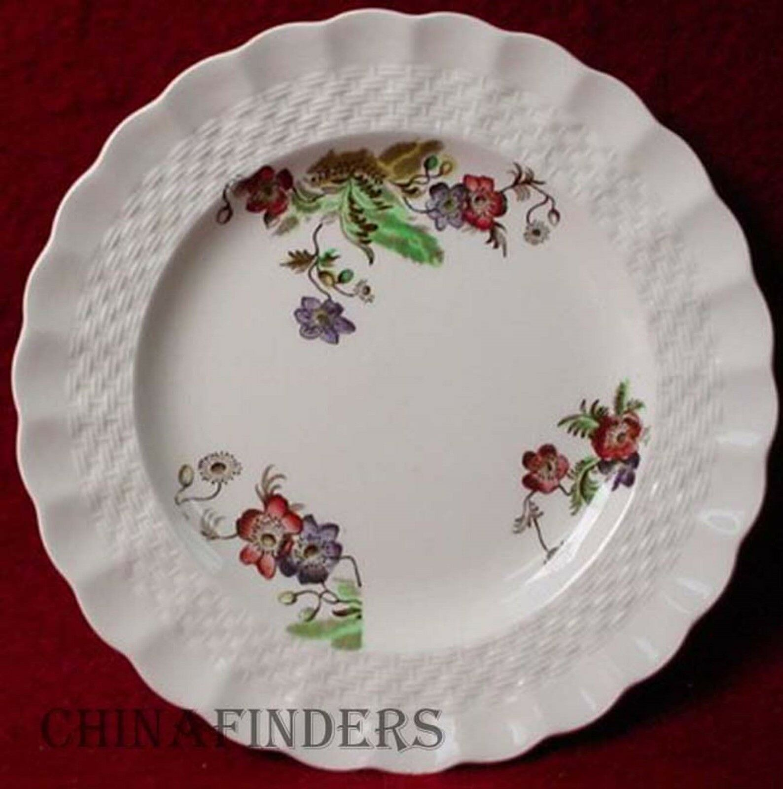 SPODE china WICKER LANE 2/7519 pattern 60 Piece Set - cup dinner salad bread