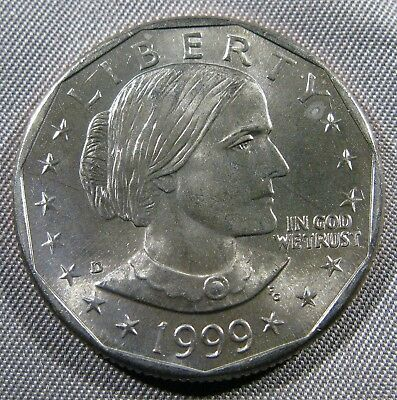 1999 D Susan B Anthony Dollar Brillaint Uncirculated Roll Coin (Anthony Dollar Coin)
