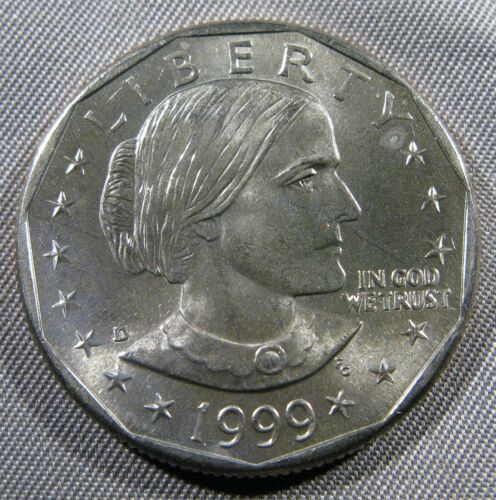 1999 D Susan B Anthony Dollar Brillaint Uncirculated Roll Coin