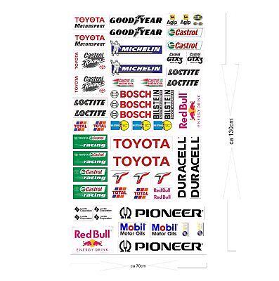 Toyota Logo Autoaufkleber Sponsoren Marken Aufkleber Decals Tuning Sticker Set