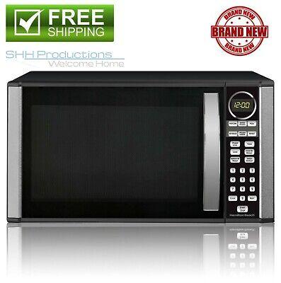 1.3 Cu Ft Black 1000 Watt Stainless Steel Microwave Oven Cooker w...
