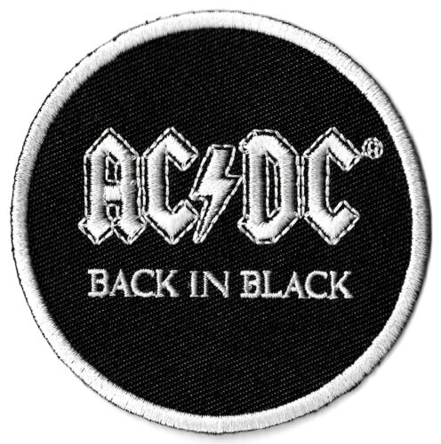 AC/DC Back in Black - Patch [Embroidered] Rock Emblem Symbol Badge Insignia ACDC