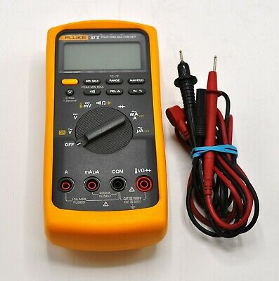 Fluke 87 V True Rms Multimeter With Leads