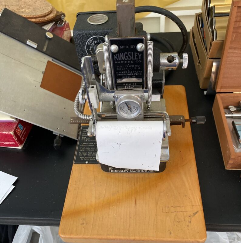 Kingsley Hot Foil Stamping Embossing Machine Model M-60 W/ Lots Of Accessories