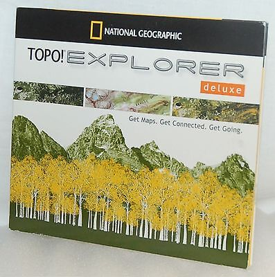 NEW National Geographic TOPO! Explorer Deluxe MAPS Software TomTom Garmin Triton
