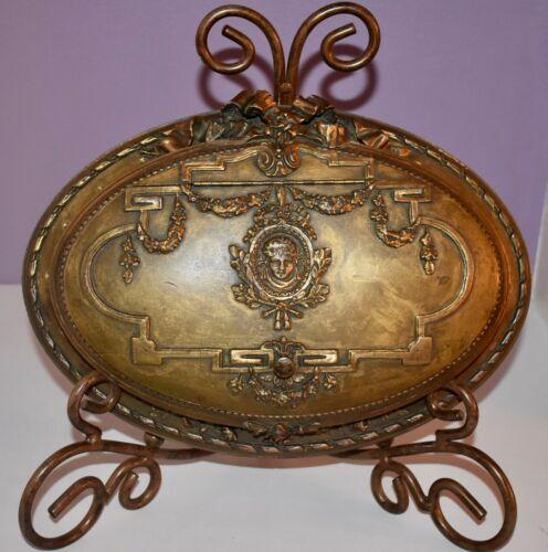 SPECTACULAR! Antique XL Barbola **CAMEO** Jewelry  CASKET Trinket VANITY BOX