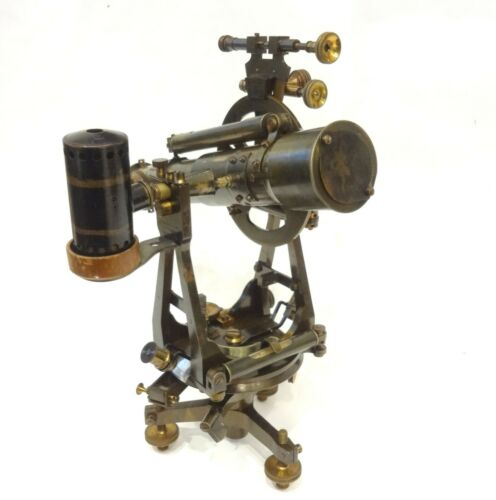 ULTRA RARE ANTIQUE 19TH LANTERN BURNER TROUGHTON & SIMMS THEODOLITE CASED