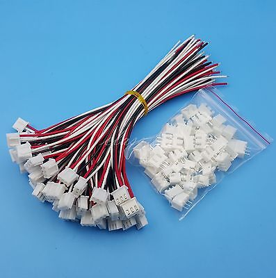 50sets Xh2.54 3pin Single-head Wire To Board Connector 15cm 24awg With Socket