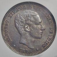 10 Centimos 1878 / Encapsulada Au55 Excelente Conservación -  - ebay.es