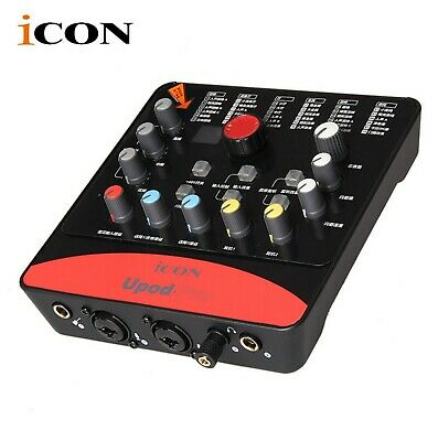 ICON Upod Pro USB Record External PC Sound Card Audio Streaming Interface Professional Recording Sound Cards