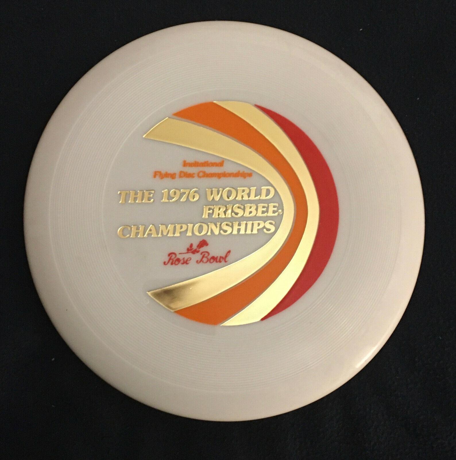 VTG 1976 Wham-O World Frisbee disc Championships  40   WHITE