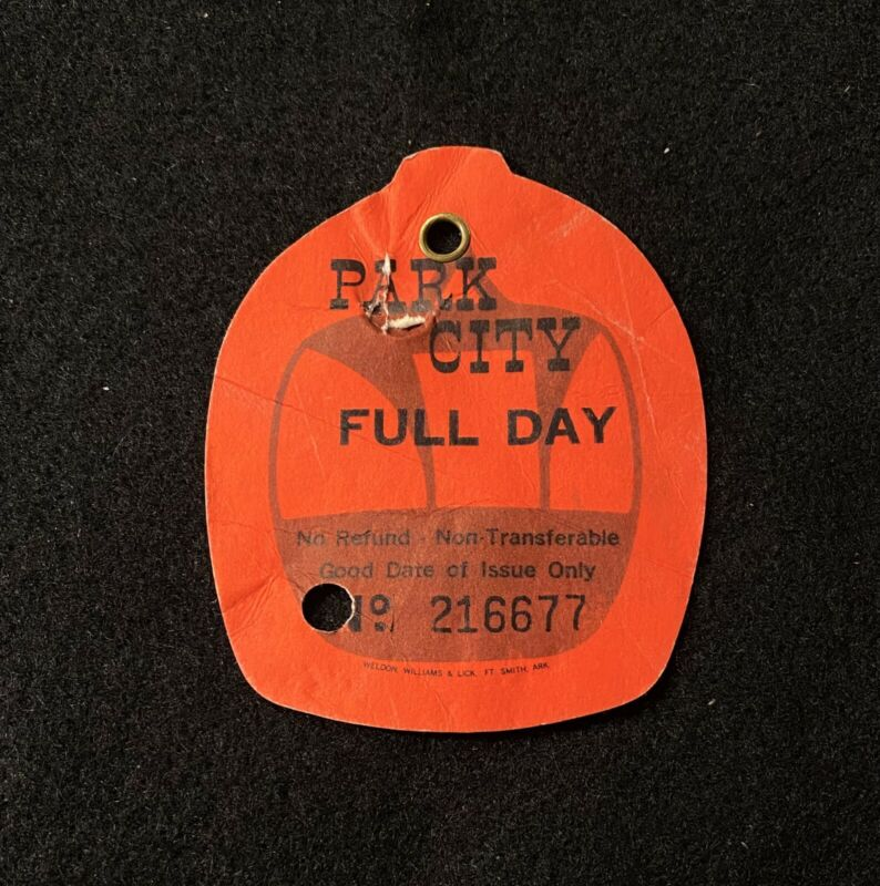 PARK CITY 1969 Vintage Skiing Ski Pass Lift Ticket UTAH Resort Travel Souvenir