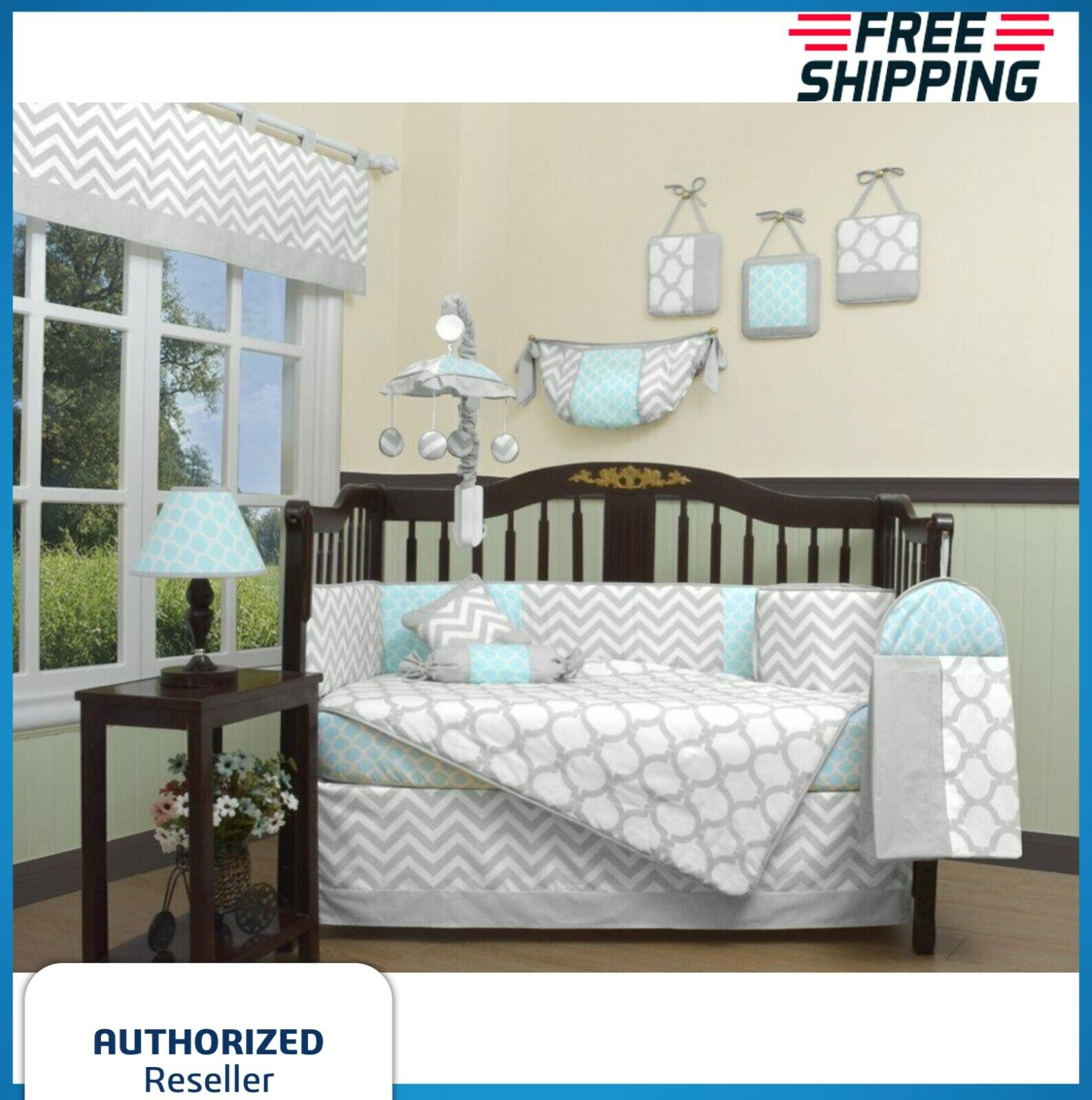 Crib Bedding Set Baby Boy Nursery Quilt