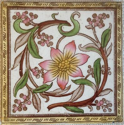 Antique Arts & Crafts Original Victorian Tile