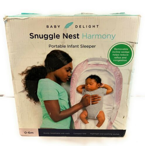 Baby Delight Snuggle Nest Harmony Portable Infant Sleeper 0-6 Months Pink