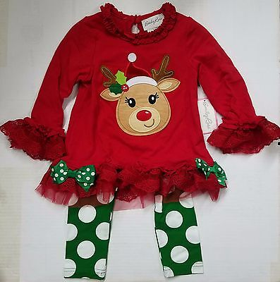 Emily Rose Holiday Christmas Dress & Leggings for Toddlers to Girls REINDEER