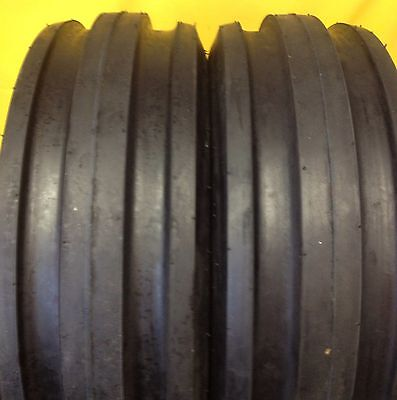 Two New 9.5l-15 8ply Rated9.5l153 Rib Tractor Farm Tire Heavy Duty Wtubes