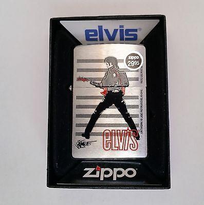 Zippo Lighter Licensed Elvis Presley Standing w/guitar Joe Petruccio design 2009
