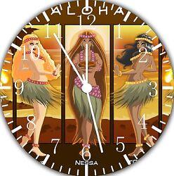 Hawaiian hula Dance wall Clock 10 will be nice Gift and Room wall Decor E31