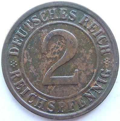 TOP! 2 REICHSPFENNIG 1925 G in SEHR SCHÖN / VORZÜGLICH !!!
